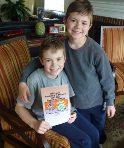 Gavin and Bobby: proud authors